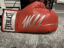 Mike Tyson A Signé Autographe De Boxe Glive & Custom Display Case Jsa Coa