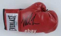 Mike Tyson A Signé Gants De Boxe Autographiés Avec Boîtier D'affichage En Argent Personnalisé + Coa