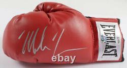 Mike Tyson A Signé Gants De Boxe Autographiés Avec Boîtier D'affichage Personnalisé Argent + Coa