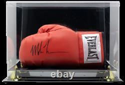 Mike Tyson A Signé Un Gant De Boxe Everlast Avec Boîtier D'affichage De Haute Qualité (jsa Coa)