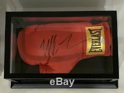 Mike Tyson Signe Complet Taille Rouge Everlast Gant De Boxe Avec Jsa Coa Cas D'affichage
