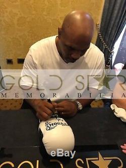 Mike Tyson Signé Gant De Boxe Champion Du Monde En Affichage De Forme Diamant Cas Coa