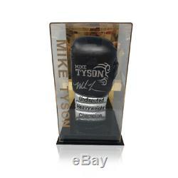 Mike Tyson Signé Gant De Boxe Champion Du Monde En Cas D'affichage Aftal Coa