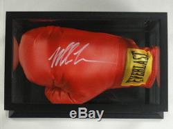 Mike Tyson Signé Gant De Boxe Everlast Red Plein Grand Avec Étui D'affichage Jsa Coa