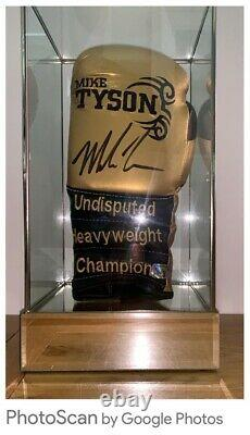 Mike Tyson Signed Ltd Edit Glove In Superb Glass Display Cas Coa £275 Livré