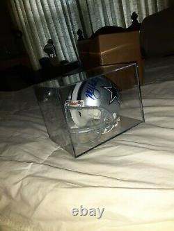 Miles Austin N ° 19 Signé Dallas Cowboys NFL Riddell Mini Casque Avec Coa