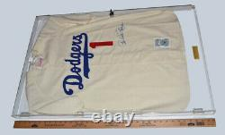 Mlb Jersey Pee Wee Reese, Coa, Uacc Rd228, Display Case Plaque, Dodgers