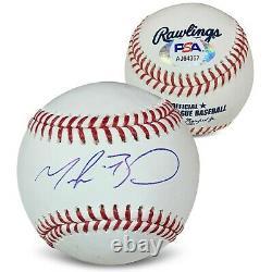 Mookie Betts Autographié Mlb Signé Baseball Psa Dna Coa Avec Boîtier D'affichage Uv