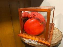 Muhammad Ali A Dédicacé Everlast Gant De Boxe Avec Étui Et Coa Affichage