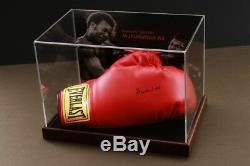 Muhammad Ali A Signé La Vitrine En Ligne D'authentique Coa Gant De Boxe Autographe