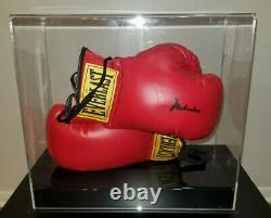 Muhammad Ali Authentique Signé Gant De Boxe Autographié Avec Vitrine Et Coa