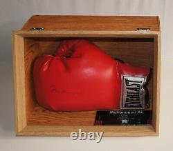 Muhammad Ali Autogramm Signiert Boxhandschuh Jsa Coa Signé Avec Vitrine