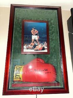 Muhammad Ali Autographié Gants De Boxe / Jsa Coa / Avec Cas D'affichage