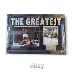 Muhammad Ali Autographié Photo Encadrée Professionnellement Coa Par Esg C#130095