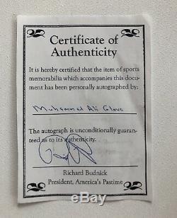 Muhammad Ali Autographié Signé Everlast Gant De Boxe Avec Coa & Case D'affichage