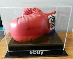 Muhammad Ali Signé Autographié Everlast Gant De Boxe Withcoa Et Vitrine