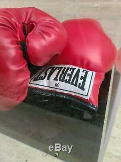 Muhammad Ali Signé Autographié Everlast Gants De Boxe Withcoa & Vitrine