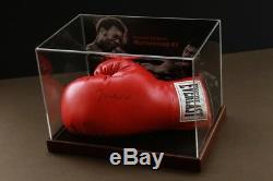 Muhammad Ali Signé Gant De Boxe Cas En Ligne Affichage Authentics Autograph Coa