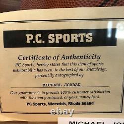 Nba Michael Jordan Signé / Autograph Wilson Basketball Avec Coa & Case D'affichage