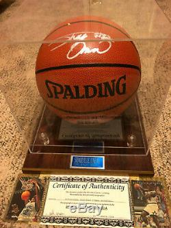 Nba Superstar Shaquille O'neal Autographié Basketball, Plus Vitrine Coa
