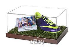 Neymar Jr, Vitrine De Chaussure De Football Signée Barcelone, Autographes Souvenirs Coa
