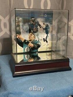 Nick Foles Autograph Philadelphia Eagles Mini Casque Coa Avec Étui D'affichage
