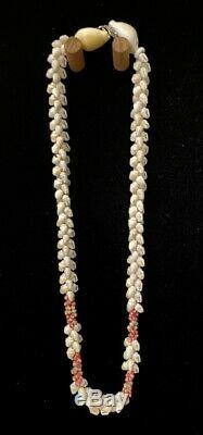 Niihau Shell Lei, Kipona Pikake Cravate Simple, 19 Pouces, Coa, Affichage Personnalisé Cas
