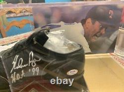 Nolan Ryan A Signé Le Cleat De Baseball Avec Le Cas D'affichage Inscrit Hof'99 (psa Coa)