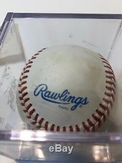 Nolan Ryan Autographed Baseball Avec Affichage Cas Et L'aco Carte, Y Compris