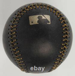 Nolan Ryan Signé Oml Black Leather Baseball In Display Case Autographiée Psa Coa