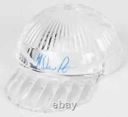 Nolan Ryan Signé Tiffany & Co. Crystal Cap / Vitrine De Haute Qualité Psa Coa
