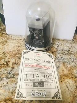 Nouveau Rare Titanic, Inc. Coa / Ticket De Charbon Et Dans Une Vitrine Spéciale Pour Le Japon
