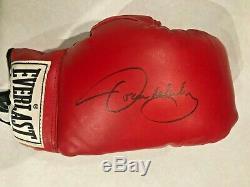 Oscar De La Hoya Signé Gant De Boxe-inclus Coa Et Étui De Protection D'affichage