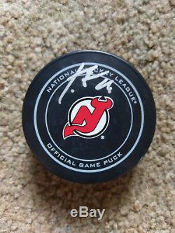 Patrick Elias Devils Du New Jersey Signe De Hockey Avec Puck Coa Et Vitrine
