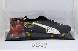 Patrick Kluivert Signé Autograph Football Boot Display Case Pays-bas Coa