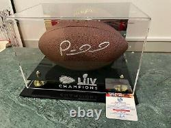 Patrick Mahomes Superbowl LIV Autographed Football In Display Case With Ga/coa