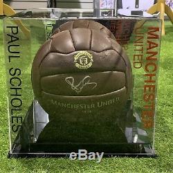 Paul Scholes De Manchester United Football Signé Légende Présentoir Coa