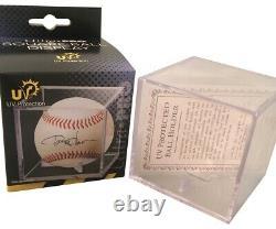 Pete Rose Autographié Mlb Signé Baseball 4256 Jsa Coa Avec Boîtier D'affichage Uv