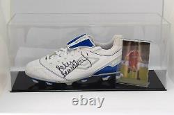 Peter Beardsley Signé Autograph Football Boot Display Case Liverpool Coa