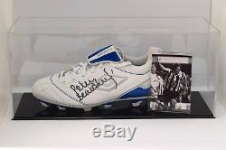 Peter Beardsley Signé Autograph Football Boot Display Case Newcastle Coa