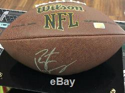 Peyton Manning Autographié, Signé, Taille Réelle, Football, Wilson, Dans, Vitrine, Coa