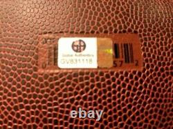 Peyton Manning Signé Wilson NFL Football /coa + Vitrine