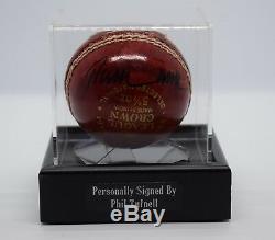 Phil Tufnell Signé Cricket Autograph Ball Vitrine Sport Angleterre Aftal Coa
