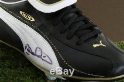 Présentoir À Chaussures De Football Signé Par Bebeto - Souvenirs D'autographe Du Brésil