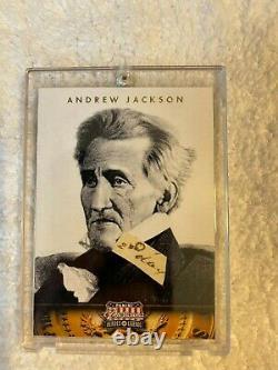 Président Andrew Jackson Mot Manuscrit Dans Une Très Belle Vitrine Coa