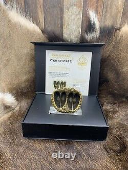 Puma Game Track Roe Deer Double Track Solid Brass With Coa In Display Case