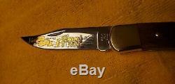 Rare 1990 Buck 110 Édition Limitée Sur Mesure Couteau Ne Jamais Utilise Coa / Cas D'affichage