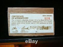 Rare 1990 Buck 110 Édition Limitée Sur Mesure Couteau Ne Jamais Utiliser Coa / Cas D'affichage