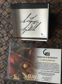 Rare 1995 Tiger Woods Signe Card Présentoir Gai Coa Pga Legendauthentic
