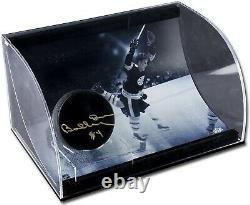 Rare Autographié Bobby Orr Bruins Le #34/50 Puck Withcurved Display Case (uda/coa)